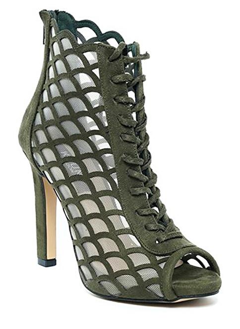Kuum İnce Topuklu Ayakkabı Yeşil